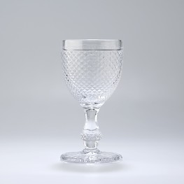 Stemmed water glass