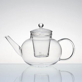 tea pot with glass interior
