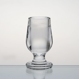 transparent brandy glass