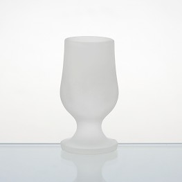 frosted brandy glass
